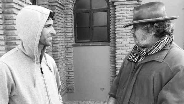 Cayetano Rivera con su tío 'Riverita.