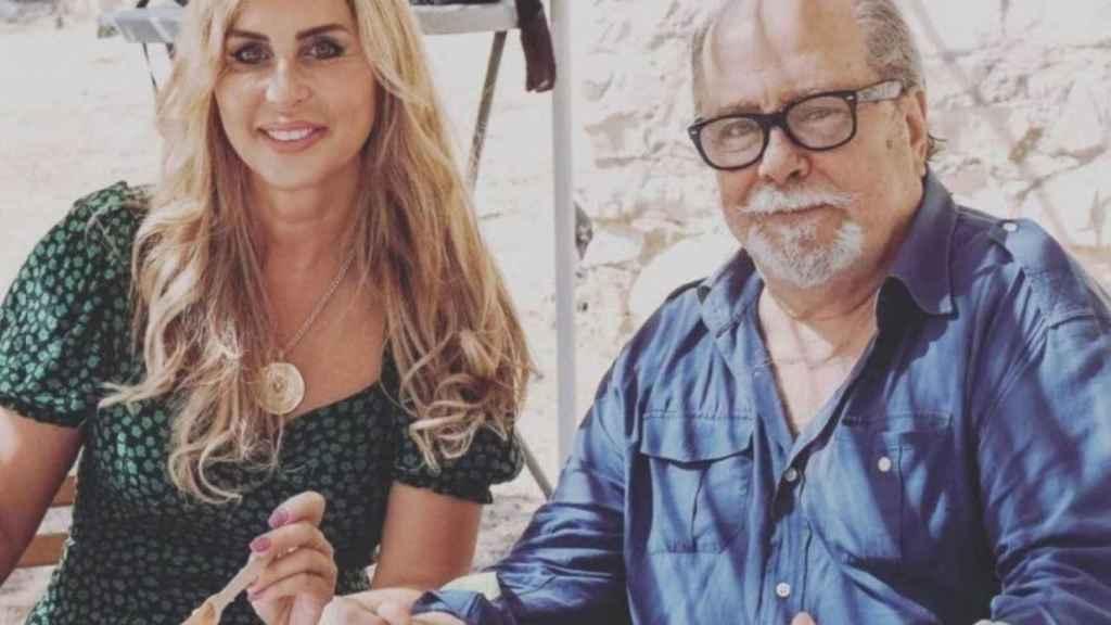 Paco Arévalo y Malena Gracia compartiendo un almuerzo en una imagen de sus redes sociales.