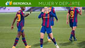El Barça celebrando un gol