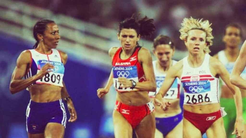 Kelly Holmes en los JJOO de Atenas 2004