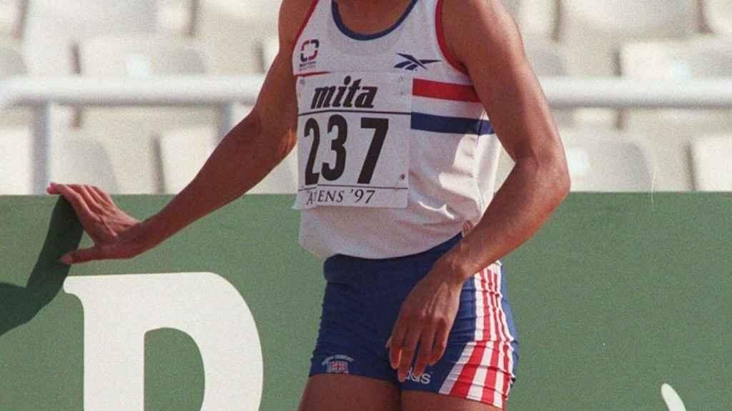 Kelly Holmes en los Campeonatos del Mundo de Atenas 1997