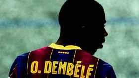 Ousmane Dembélé, en un partido del Barcelona en la temporada 2020/2021