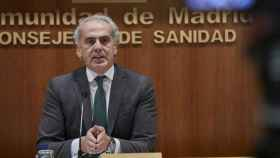 El consejero de Sanidad de la Comunidad de Madrid, Enrique Ruiz Escudero. Foto: EUROPA PRESS/J. Hellín