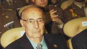 Rafael Girona Olmos en un acto reconocimiento de la Academia de Infantería hace apenas un año a profesores vinculados a la institución militar
