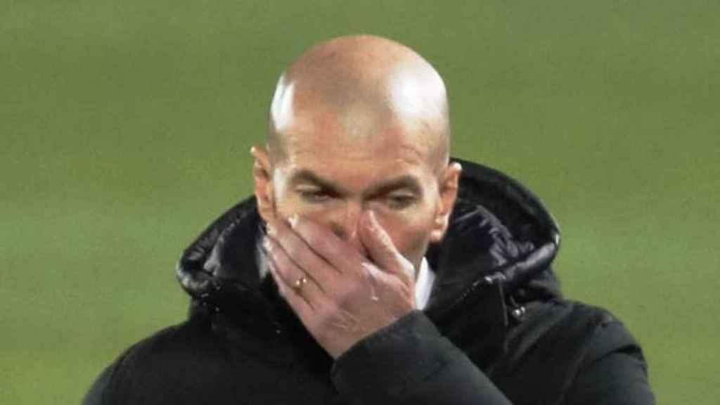 Zinedine Zidane, durante un partido