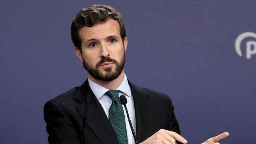 El presidente del PP, Pablo Casado, en una imagen de archivo.