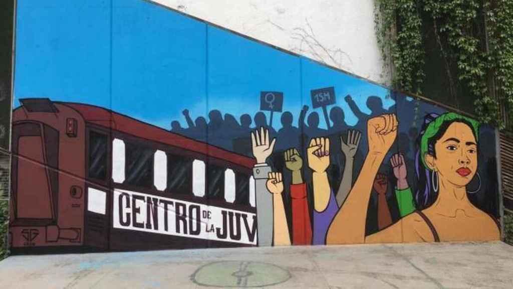 Imagen del mural que será repintado.