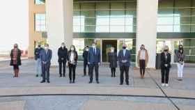 Mónica Oltra y Ximo Puig, reunidos este viernes en Alicante durante el pleno del Ejecutivo Valenciano.