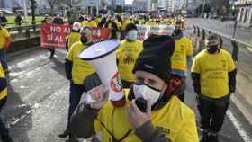 Trabajadores de Endesa,Gamesa y Alu Ibérica exigen a Estado y Xunta evitar desierto industrial en Galicia