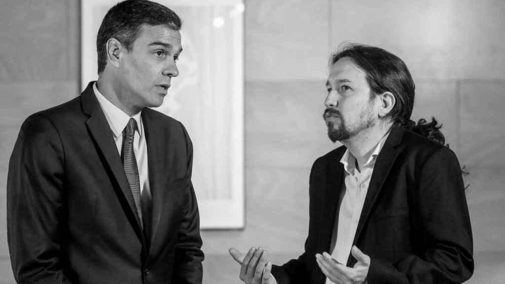 El presidente Pedro Sánchez y el vicepresidente Pablo Iglesias.
