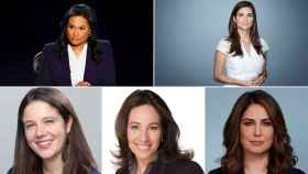 Kristen Welker, Kaitlan Collins, Ashley Parker, Nancy Cordes y Cecilia Vega.