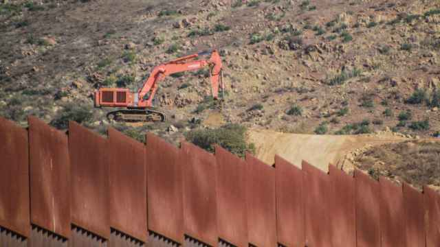 Vista hoy del muro fronterizo estadounidense desde la ciudad de Tijuana, Baja California (México).