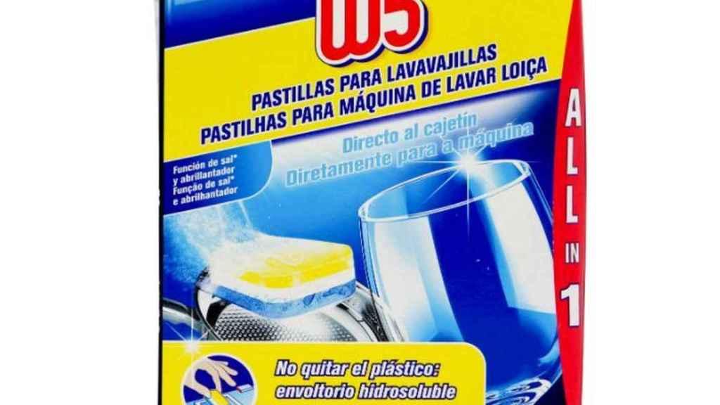 W5 detergente para lavavajillas de Lidl.