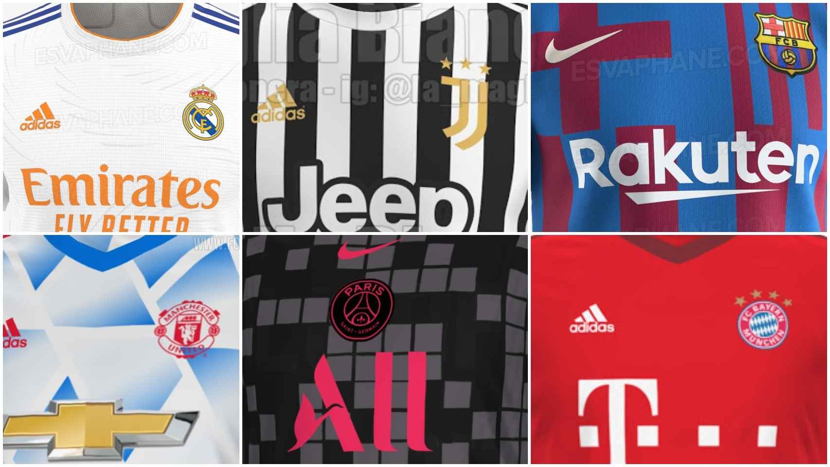 Las camisetas de fútbol filtradas para la temporada 2021/2022