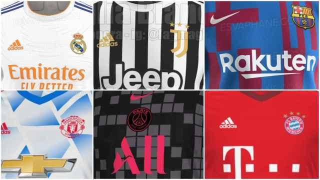 Del Real Madrid al Barça: todas las camisetas de fútbol filtradas para la temporada 2021/2022