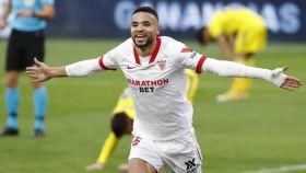 En-Nesyri celebra un gol en el Sevilla - Cádiz de la jornada 20 de La Liga