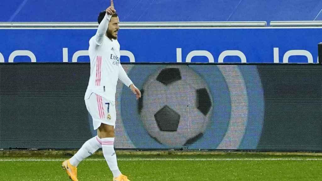 Hazard celebra su gol al Deportivo Alavés