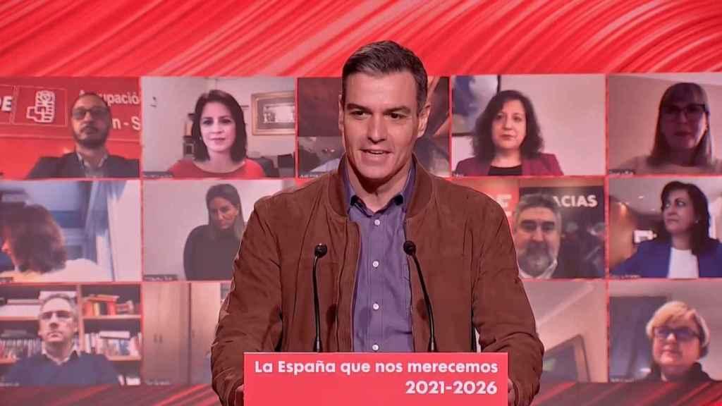Pedro Sánchez, presidente del Gobierno, en el Comité Federal del PSOE celebrado en Barcelona.