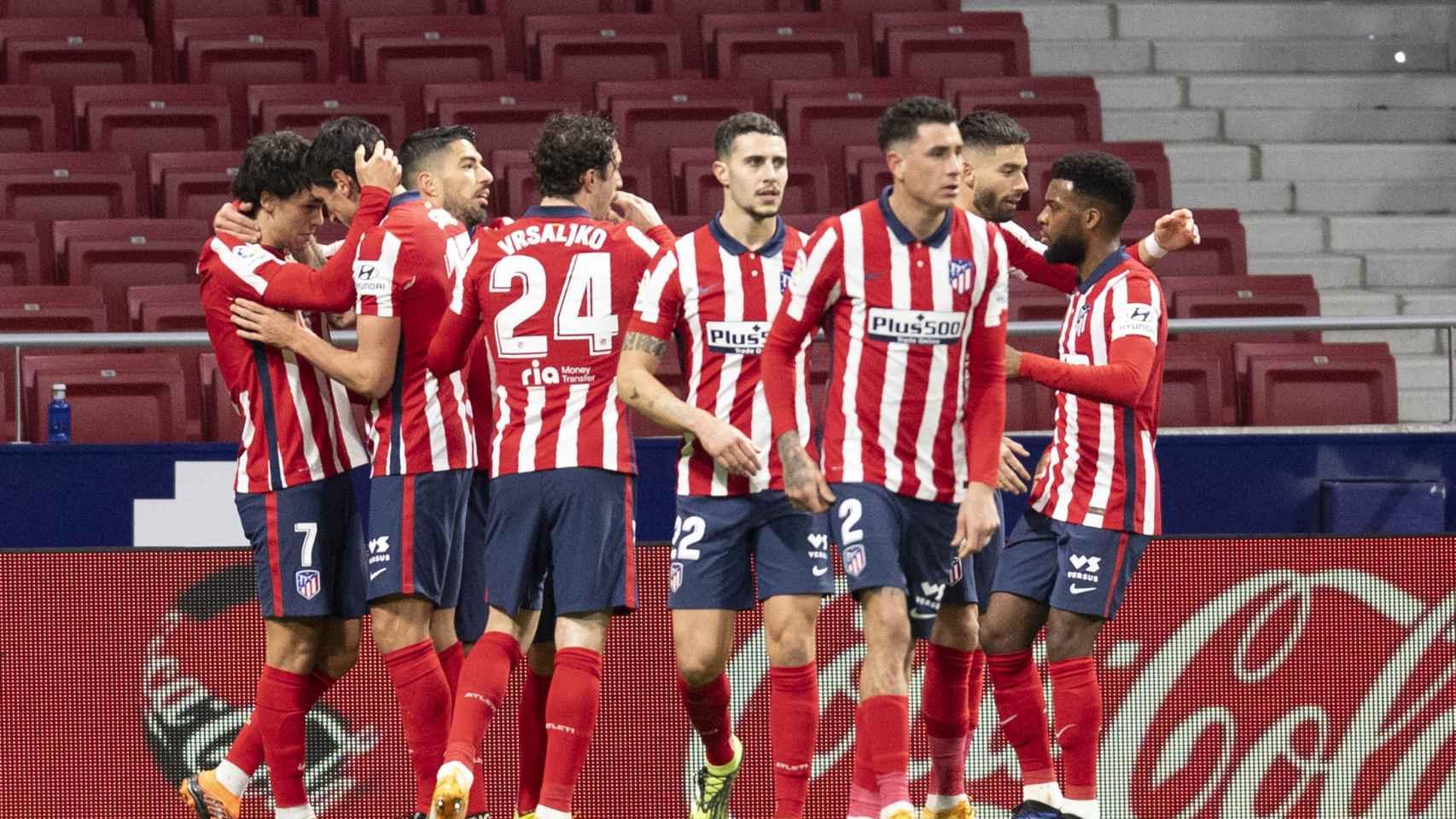 El Atlético celebrando un gol