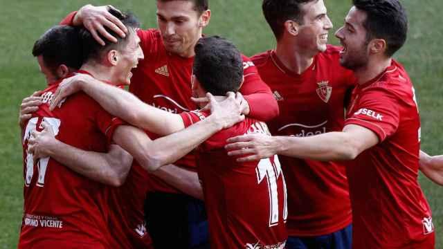 Osasuna celebra un gol ante el Granada