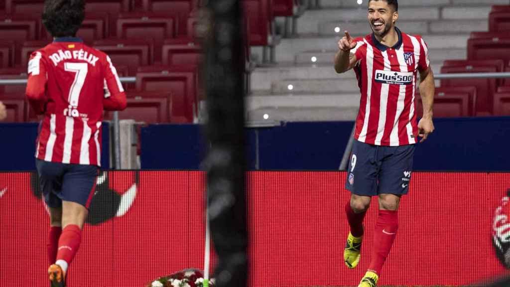 Luis Suárez con Joao Félix