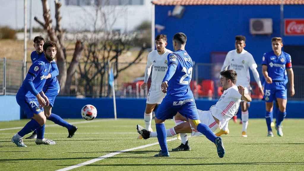 Hugo Duro roza el gol ante el Getafe