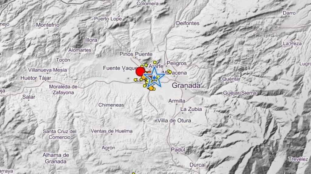 La provincia de Granada tiembla: seísmos registrados en la última semana.
