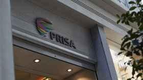 Logotipo de Prisa en una de sus oficinas.