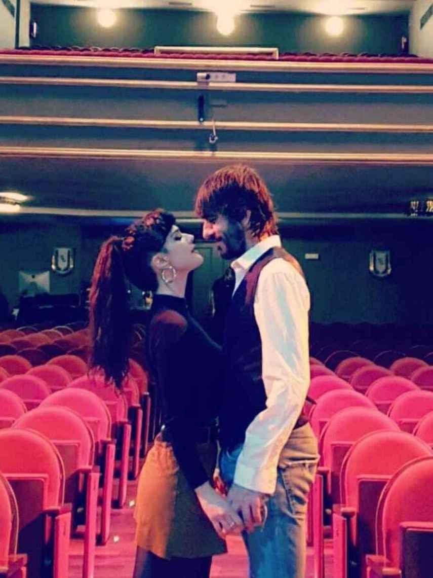 Sara Vega y Daniel Navarro en el teatro La Latina donde ambos forman parte del cartel de 'Yerma'.