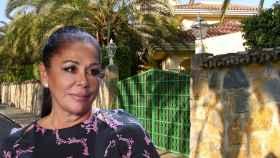 Isabel Pantoja, junto a la que era su casa en Marbella, Mi Gitana, en un fotomontaje de JALEOS.