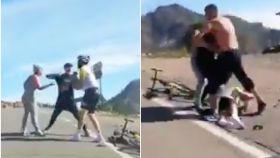 Brutal agresión de un conductor a un ciclista en Gran Canaria
