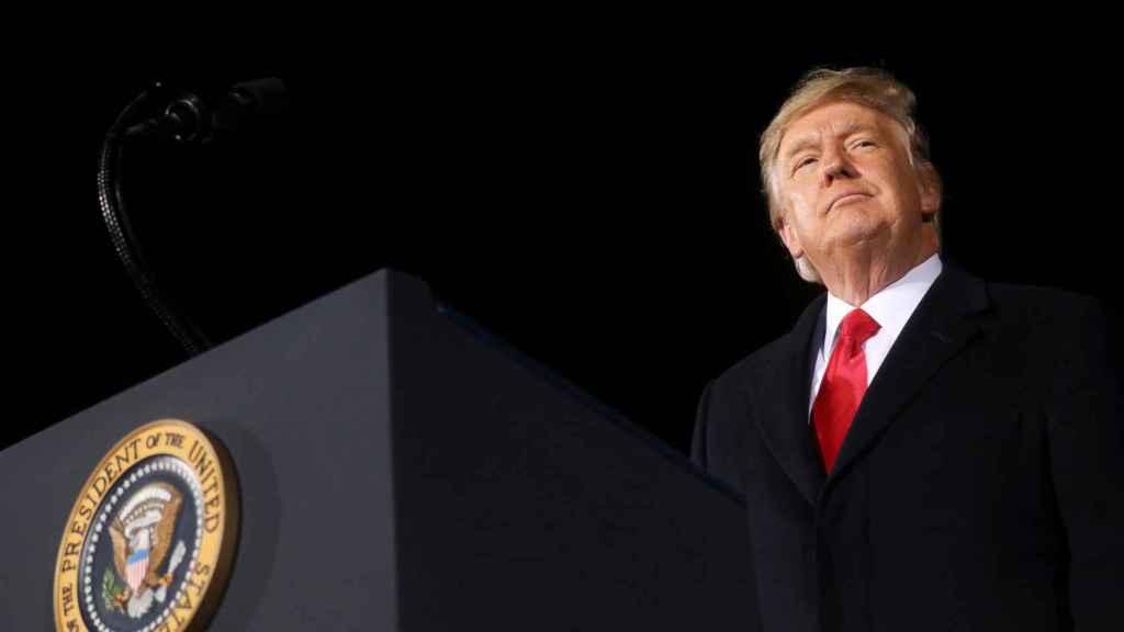 El expresidente de EEUU, Donald Trump, durante un acto de campaña en Dalton, Georgia.