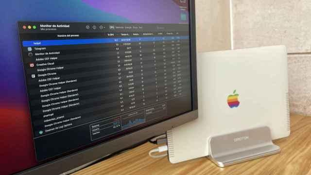 Un MacBook sufriendo de un bug en el sistema que ocupa el procesador
