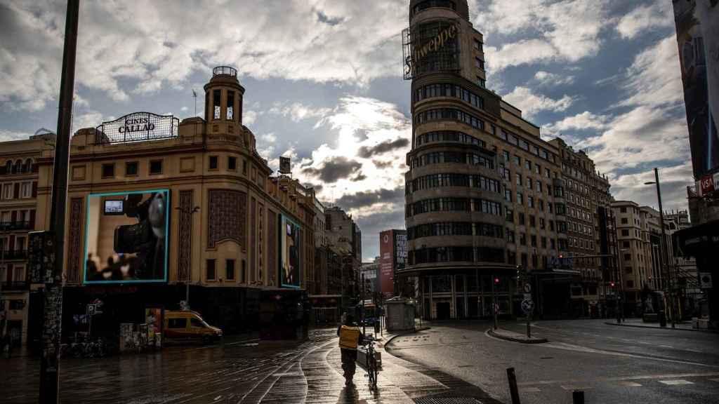 La Gran Vía de Madrid.
