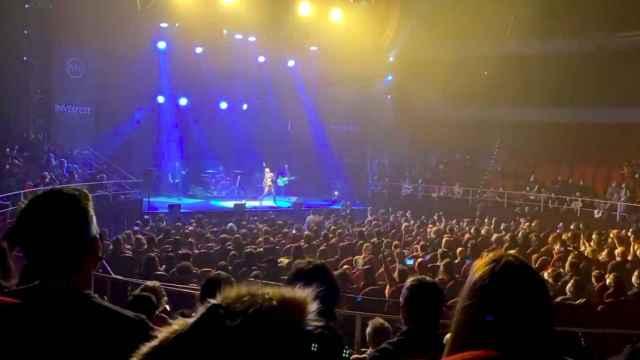 Captura del vídeo del concierto que se ha hecho viral.