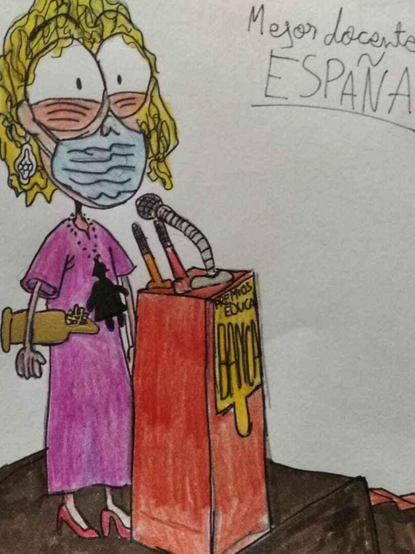 Dibujo realizado por un alumno de la maestra Tojeiro.