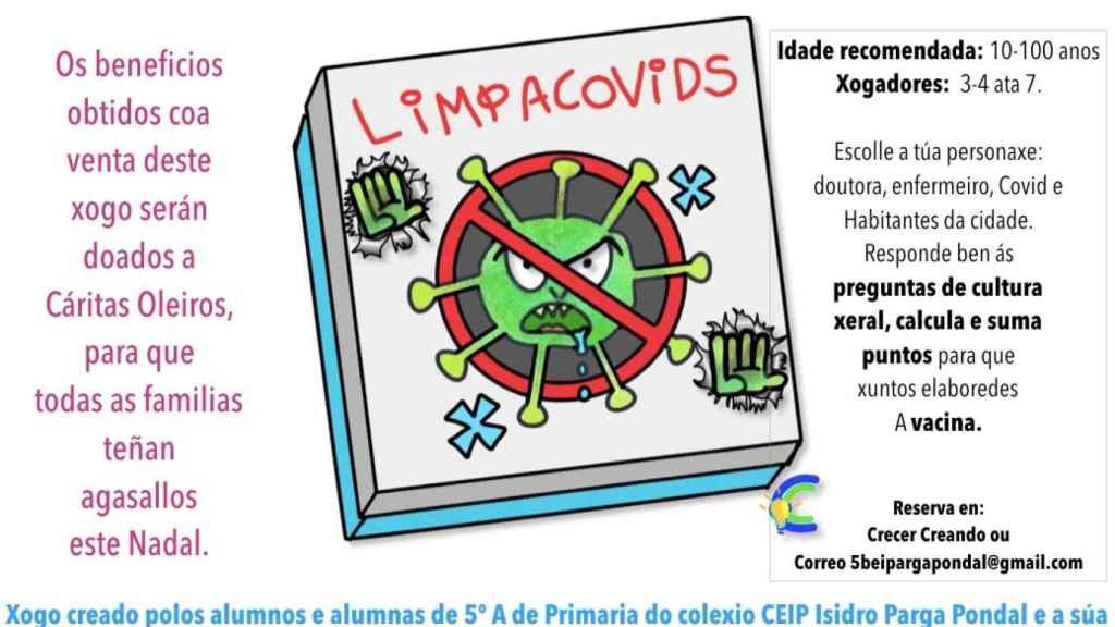 El LimpiaCovids, el juego solidario inventado por Alicia y sus alumnos de quinto de primaria.
