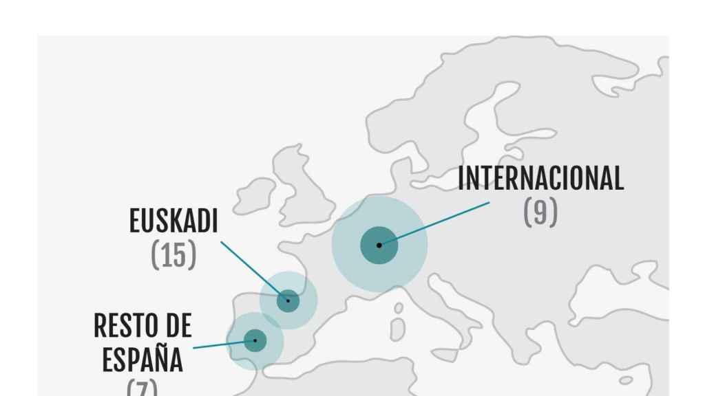 Distribución geográfica de las startups seleccionadas. GRÁFICO: BIND 4.0