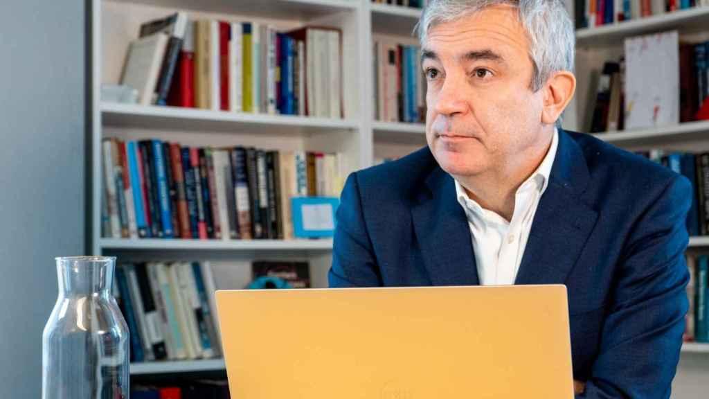Luis Garicano, este martes en su despacho en Bruselas.