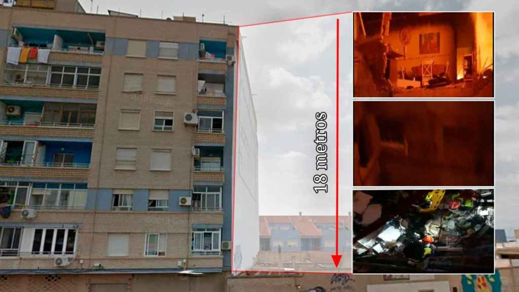 David cayó desde un sexto piso, desde 18 metros.