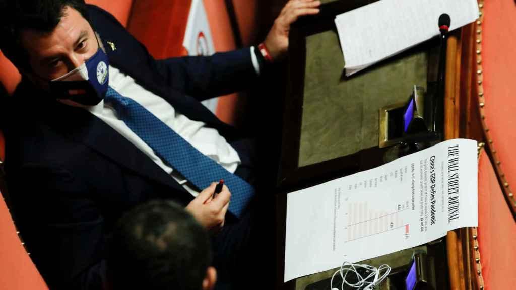 matteo Salvini, líder del partido ultraderechista la Liga.