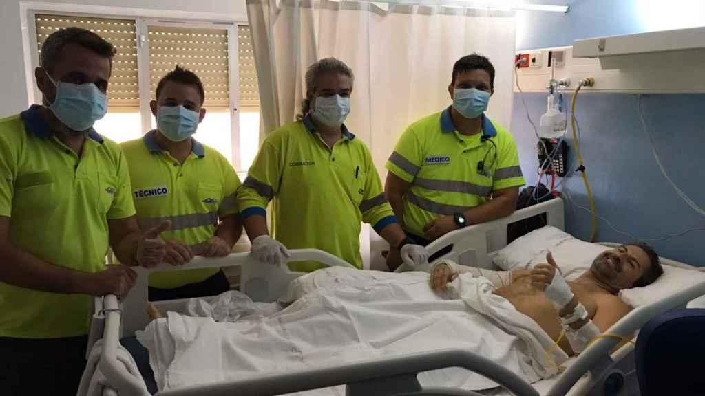 Durante su hospitalización David recibió muchas muestras de apoyo de todos los colectivos.