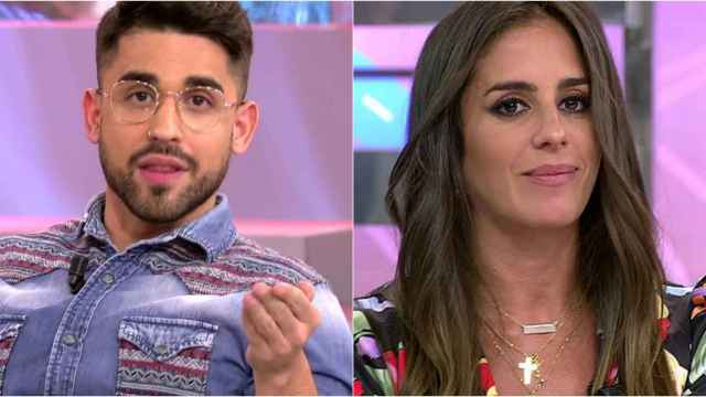 Miguel Fringeti y Anabel Pantoja en montaje de BLUPER.