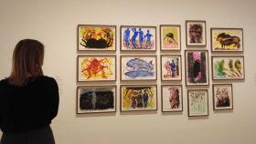 Acuarelas de Miquel Barceló en el Picasso de Málaga.