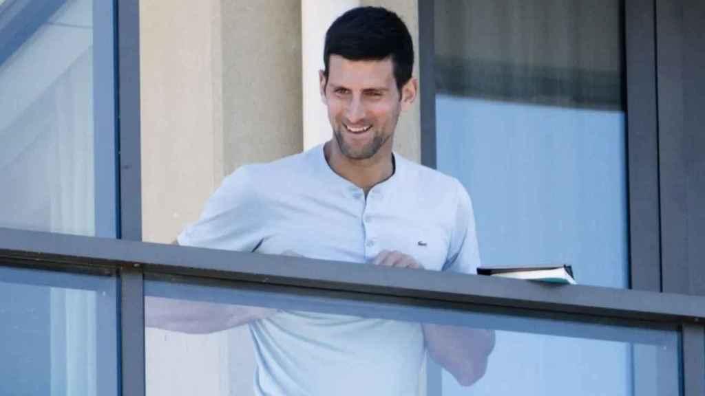 Novak Djokovic, durante su confinamiento en Adelaida
