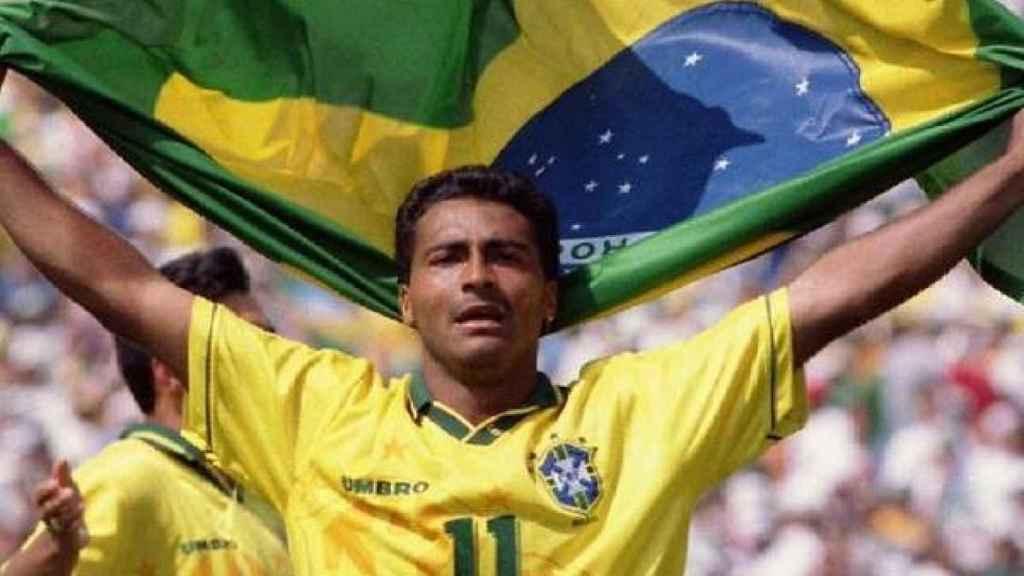 Romario, con la selección de Brasil de fútbol
