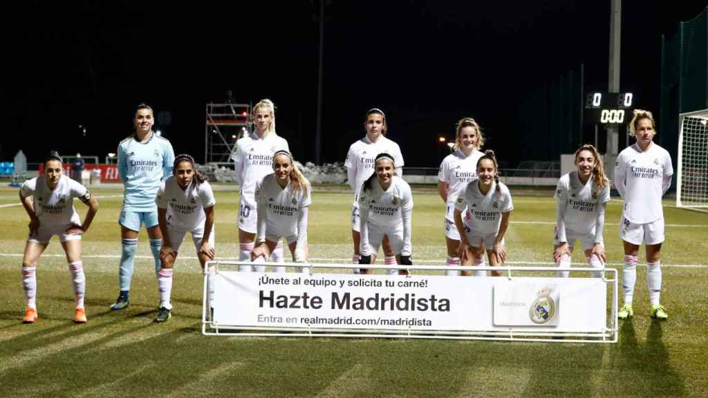 El once titular del Real Madrid Femenino ante el Santa Teresa