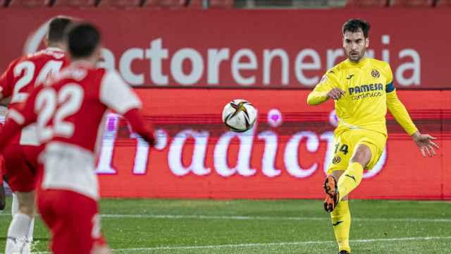 Manu Trigueros, durante el partido entre el Girona y el Villarreal de la Copa del Rey