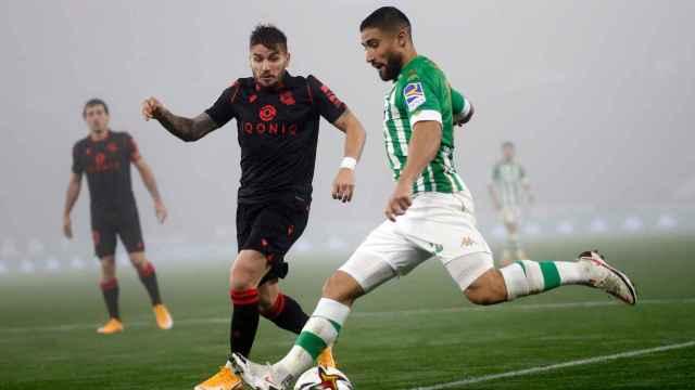 Nabil Fekir, durante el Betis - Real Sociedad de la Copa del Rey