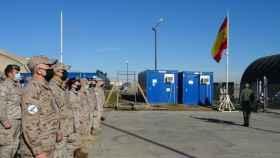 Miembros del contingente del Ejército del Aire en la base de Rumanía.